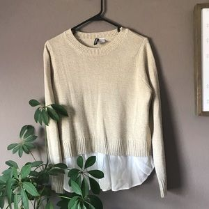 Faux Layered Lightweight Sweater